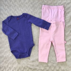 Carter's Baby Girl Bundle Pants Bodysuit Pink 6M